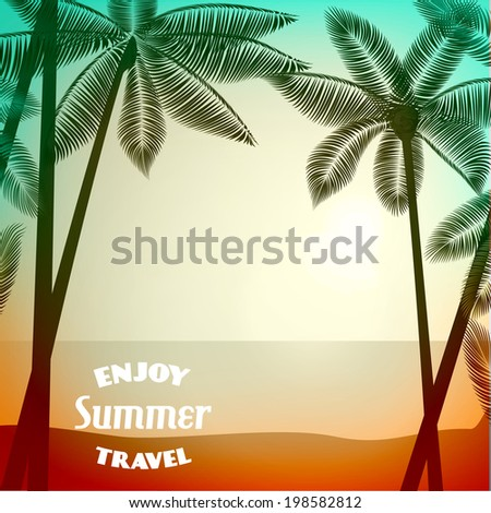 vector summer poster background
