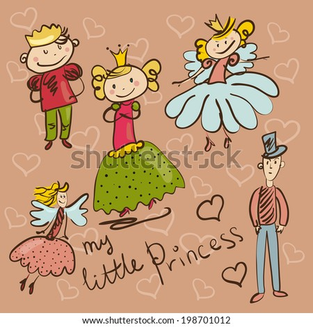 little princess and her retinue
