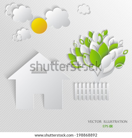 house in village vector