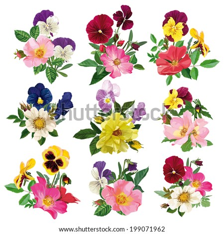 bouquet of wild roses and