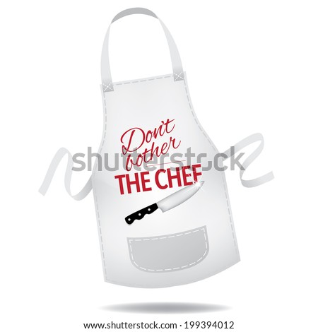 don't bother the chef apron