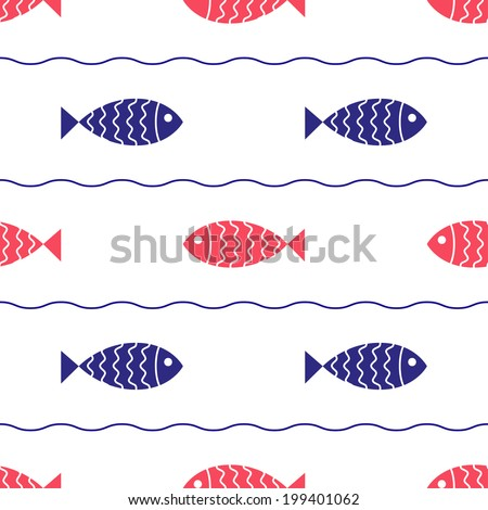 seamless nautical pattern with