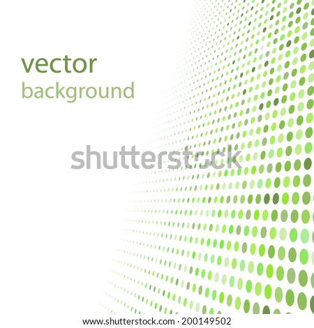 abstract green dotted background