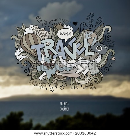 travel hand lettering and
