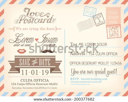 free adobe illustrator postcard template free vector download
