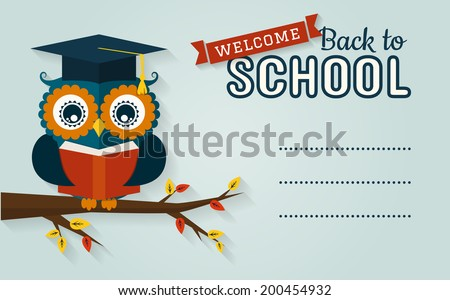 back to school vector card