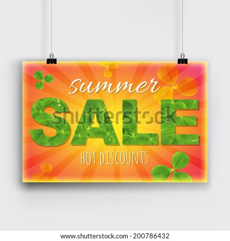 summer sale banner  with