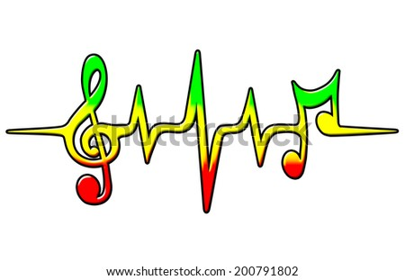 reggae music pulse   bass and