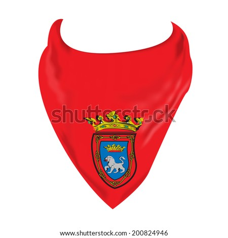 scarf parties of pamplona vector