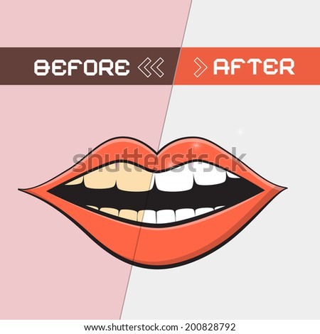 retro vector mouth illustration