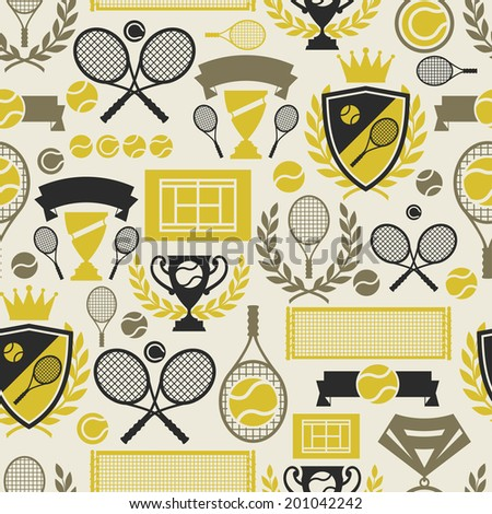 sports seamless pattern with