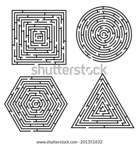 vector file of labyrinth