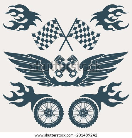 motorcycle grunge design