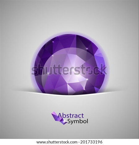 abstract purple triangle ball