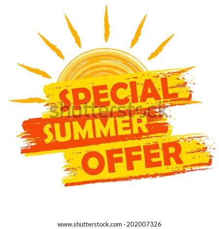 special summer offer banner