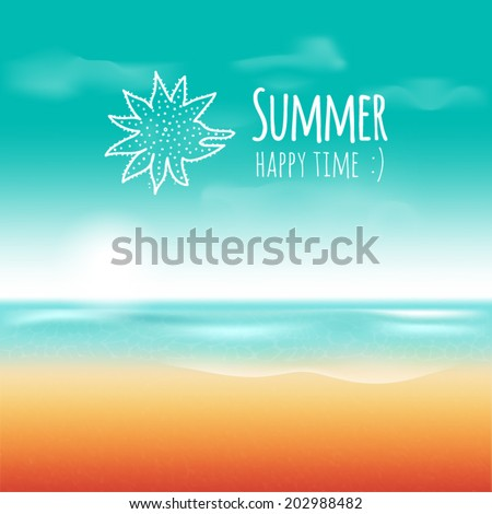 vector card happy summer time
