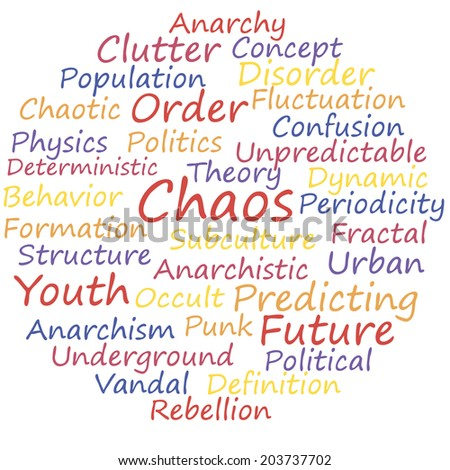 chaos word cloud concept  a