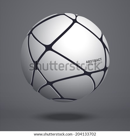 abstract metal sphere vector