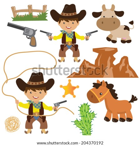 cowboy vector illustration