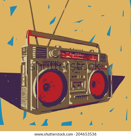 ghetto blaster boombox vector