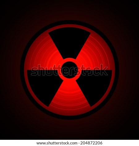 black radiation sign in circle