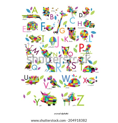vector english alphabet with