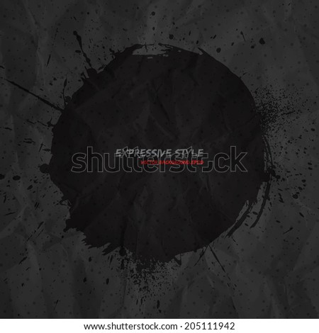 hand drawn vector grunge dark
