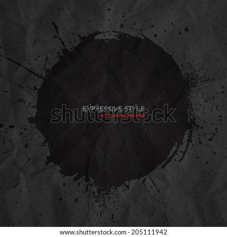 hand drawn vector grunge dark