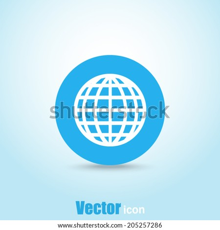 blue button vector icon