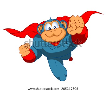 super hero monkey cartoon