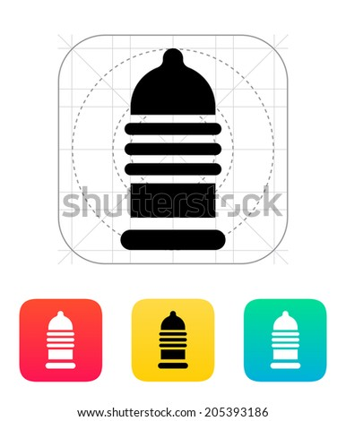 ribbed condom icon vector
