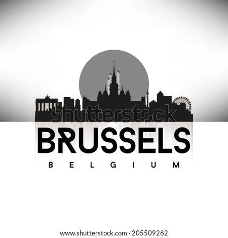 brussels black skyline