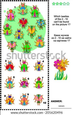 bugs and beetles visual logic