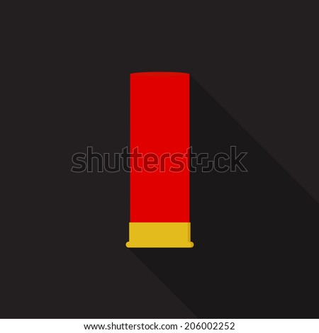 shotgun shells icon   vector