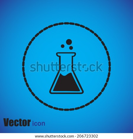 black web icon on a blue