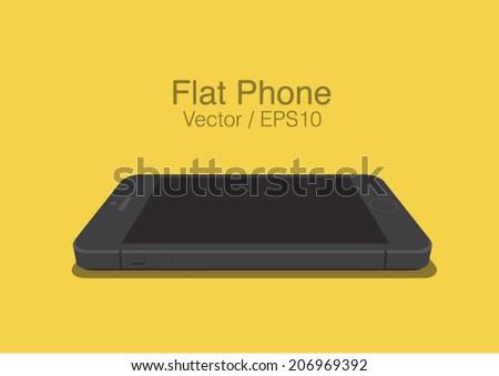 vector black phone on the plane