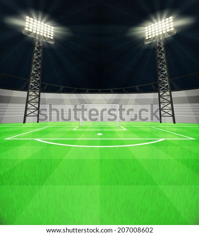 football shooter goal view on