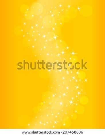 glowing yellow wave background