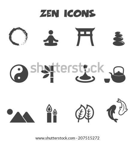 zen icons  mono vector symbols