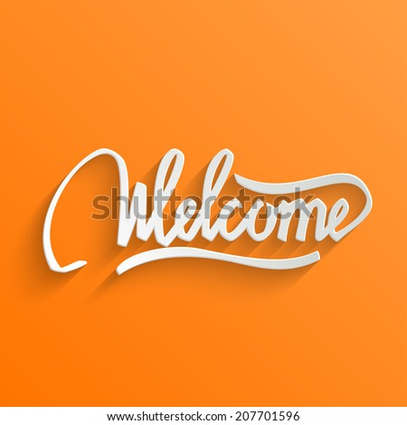 welcome hand lettering greeting