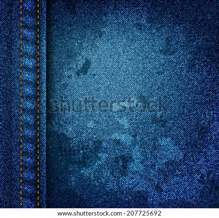 texture of blue jeans with