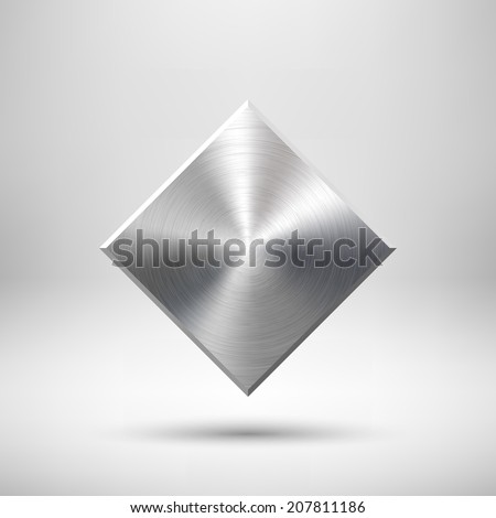 abstract rhombic badge  blank
