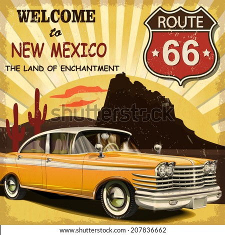 welcome to new mexico retro