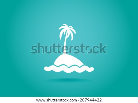 white icon on turquoise