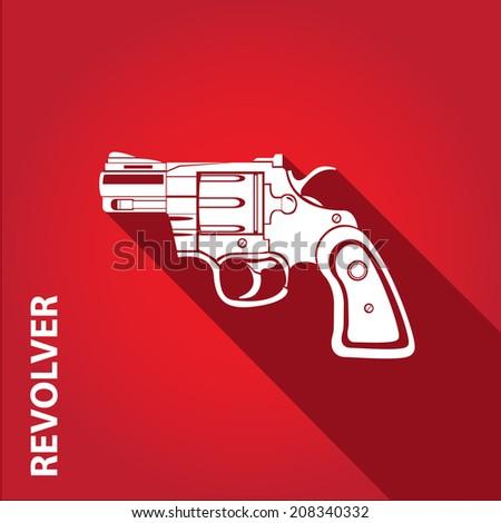 vector stylish white revolver