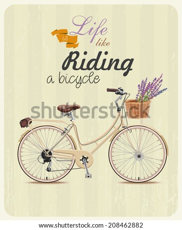 bicycle with lavender in basket