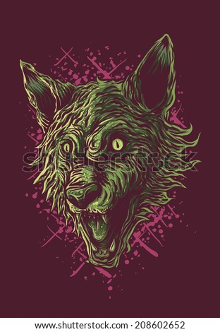 werewolf head