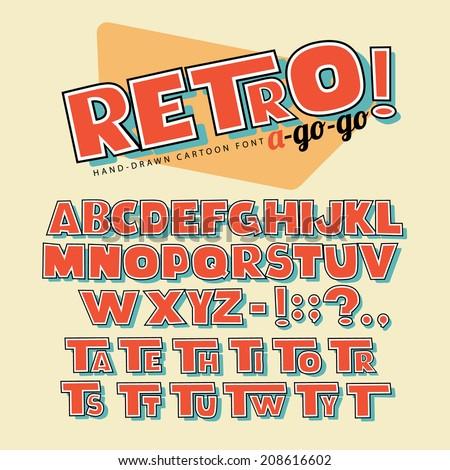 hand drawn retro cartoon font