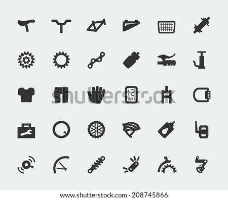 spare parts for bicycle vector