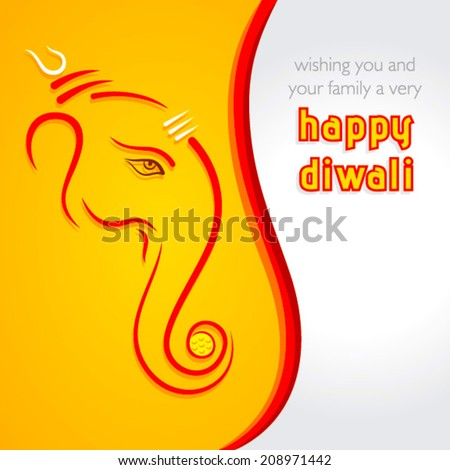 creative happy diwali greeting